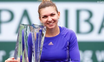 Simona Halep Indian Wells marele trofeu